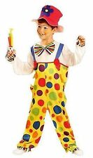 BOYS GIRLS KIDS FANCY DRESS CLOWN COSTUME CILDRENS CIRCUS OUTFIT AGE (4-12)