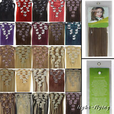 7 Pcs Clips In Remy Real Straight Human Hair Extensions Full Head Cheap 4 length