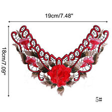 Collar Applique Patches Embroidered Lace Embroidered Neckline Lace Applique