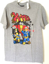 MARVEL COMICS X-MEN GRAPHIC TEE T-SHIRT MENS GREY BRAND NEW WOLVERINE CYCLOPS