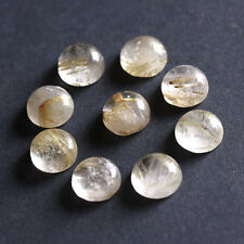 12MM Round Shape, Golden Rutile Calibrated Cabochons, AG-225