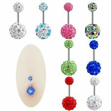 Barbell New Navel Ring Crystal Ball Belly Button Piercing Body Jewelry