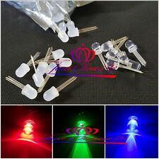 5-100pcs F10MM 4PIN tri-color common adode cathode Diffused RGB LED Light Diode