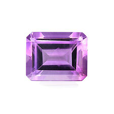 Natural 8 x 6 - 10 x 8 mm Emerald Cut Loose Purple Amethyst Gemstone