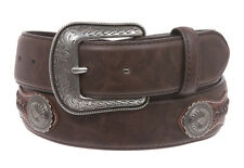 Western Embroidered Stitching-Edged Leather Belt
