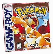 GB Pokemon Red Version Nintendo Game Boy 1998 NEW SAVE BATTERY Tested Free S&H