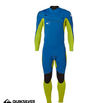 NEW Quiksilver MENS IGNITE 2/2MM CHEST ZIP STEAMER WETSUIT Blue/Green