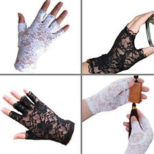 Women Amazing Goth Party Sexy Dressy Lace Gloves Mittens Fingerless Style Hot