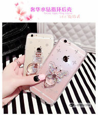 New Design Diamond Finger Ring 360 Stand TPU Case Cover For iPhone 7 7 Plus