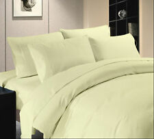 Hotel Quality 3 PC/4 PC/5 PC/6 PC/7 PC Duvet Set 1000TC Egyptian Cotton Ivory