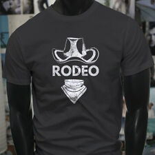 RODEO COWBOY HAT COUNTRY WESTERN WILD WEST TOUGH Mens Charcoal T-Shirt