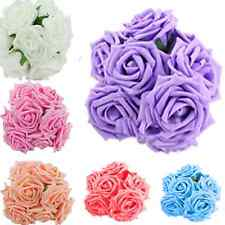 Lot 10PCS Artificial Fake Silk Rose Flowers Bridal Wedding Bouquet Home Decor