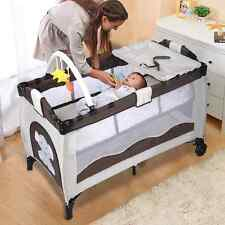 Portable Baby Crib Bassinet Playpen Travel Foldable Bed Organizer Convertible