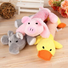 Cute Pet Puppy Chew Squeaker Squeaky Plush Sound Pig Elephant Duck Ball Dog Toys