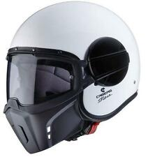 Caberg Ghost White Open Face Jet Motorcycle Scooter Helmet Mask Fighter