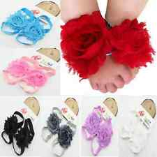 Lovely Boy Girl Baby Feet Toddler Flower Shoes Fashion Barefoot Blooms Sandals