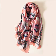 "Women's Pink Fashion Printed Long Shawl Scarf for Spring New Arrival 71""*35"""