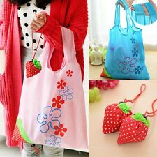 Recycle Fashion Eco Handbag Shopping Tote Bags Strawberry Reusable Bag