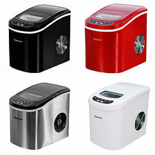 Magic Chef Countertop Ice Maker Portable Stainless Steel,Red,Black,White