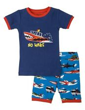 "HATLEY Boys Monster Boats ""No Wake"" Pyjamas Set (Short Cotton PJ's) - BNWT NEW"