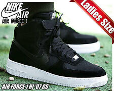 Youth / Womens Nike Air Force 1 One Sneakers New, Black / White Oreo 653998-009