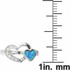 Alexandria Sterling Silver Gemstone Heart Ring. Free Shipping