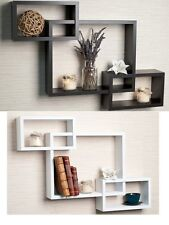 Hanging Wall Shelf Rectangular Modern Furniture Books Display Living Room Decor