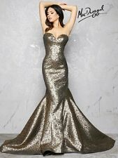 Mac Duggal Dress Gown Couture 2017 ❤PRICE GUARANTEE❤LAYAWAY❤ 66025 Long Gold 2 4