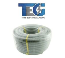New Electrical Cable Corrugated Conduit 20mm x 25m Roll Grey UV-Protected