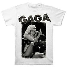 New Lady Gaga Middle Finger Mens White Concert Shirt (S,M,L,XL) badhabitmerch