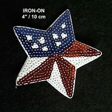 USA Flag Star Iron-on Emblem Patriotic Badge Patch American Jeans Applique