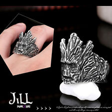goth aristocrat lord of the rings Ent tree man titanium steel band ring【J1A641】