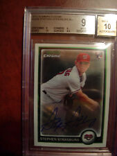 2010 Bowman Chrome  Stephen Strasburg Auto Card