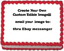 Custom Your Own Personalized Photo Edible image Cake topper decoration