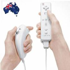 Built in Motion Plus Remote Nunchuck Controller 2 in1 Set For Wii U Wii White OT