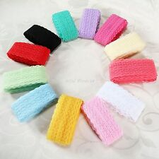 12 Colour Embroidered Fabric Lace Trim Ribbon 10Yards Bilateral DIY Sewing Craft