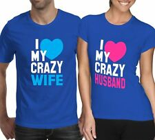 I Love My Wife I love My Husband Mens Womens Valentines Printed Lot T Shirt
