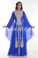 DUBAI VERY FANCY KAFTANS abaya jalabiya Ladies Maxi Dress New Wedding gown 3777