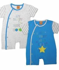 BEAUTFIUL BABY BOYS 2 PACK ROMPERS SET 100 % COTTON DESIGNED BY CHEEKY CHIMP