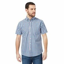 Maine New England Mens Blue Checked Print Regular Fit Shirt From Debenhams