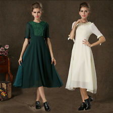 New Design Women Organza Embroidery Evening Party Prom Cocktail Maxi Dress