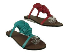 WOMENS LADIES FLAT STRAPPY MULE SUMMER SANDAL RED BLUE SIZE UK 3-8 NEW