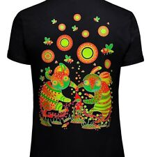 Striped Dance Men's T shirt UV Blacklight Psychedelic Shrooms Lsd Goa Trance