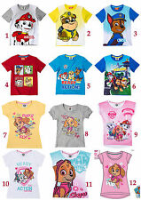 Boys Girls Kids Paw Patrol T-shirts age 2-8 years New 2017 designs