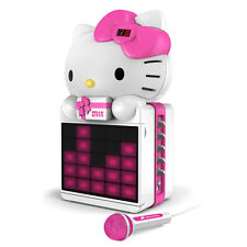 Hello Kitty CD G Karaoke System with LED Light Show and P3 MP4 G Playback