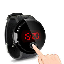 Fashion Mens Waterproof Digital LED Touch Screen Date Silicone Sport Wrist Watch