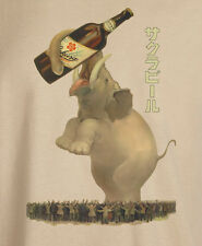 Vintage Japanese Advertising Poster Sakura Beer Reproduction T-Shirt