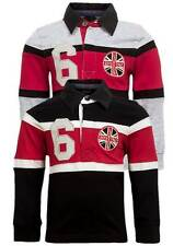 NEW Life & Legend Boys Rugby Style Block Stripe Collared Long Sleeve Top 3-6yrs