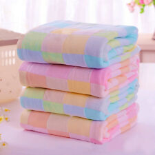 Square Towels Cotton gauze Plaid Towel Kids Bibs Daily Use Hand Face Towels