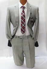 Angelo Rossi by Giorgio Cosani Gray Check Modern Fit Suit Mens Suits